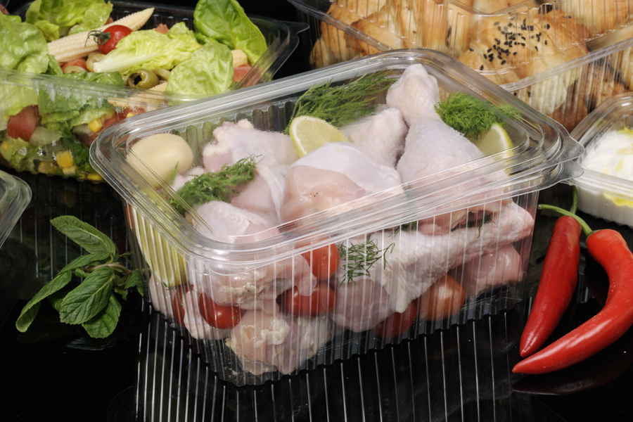 Diposable Poultry Plastic Clear Container